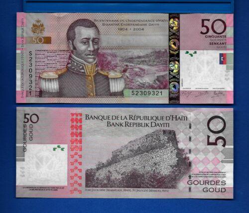 Haiti P-274e 50 Gourdes Year 2014 Uncirculated Banknote