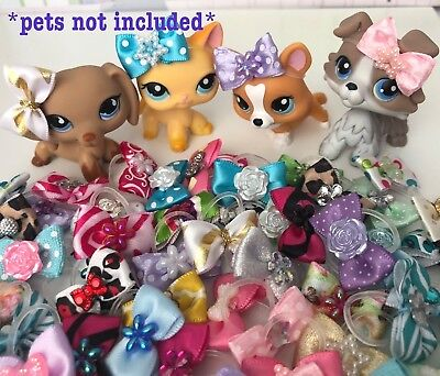 Littlest Pet Shop Accessories Custom Lot of 5 Bows LPS *DOG CAT NOT INCLUDED*
