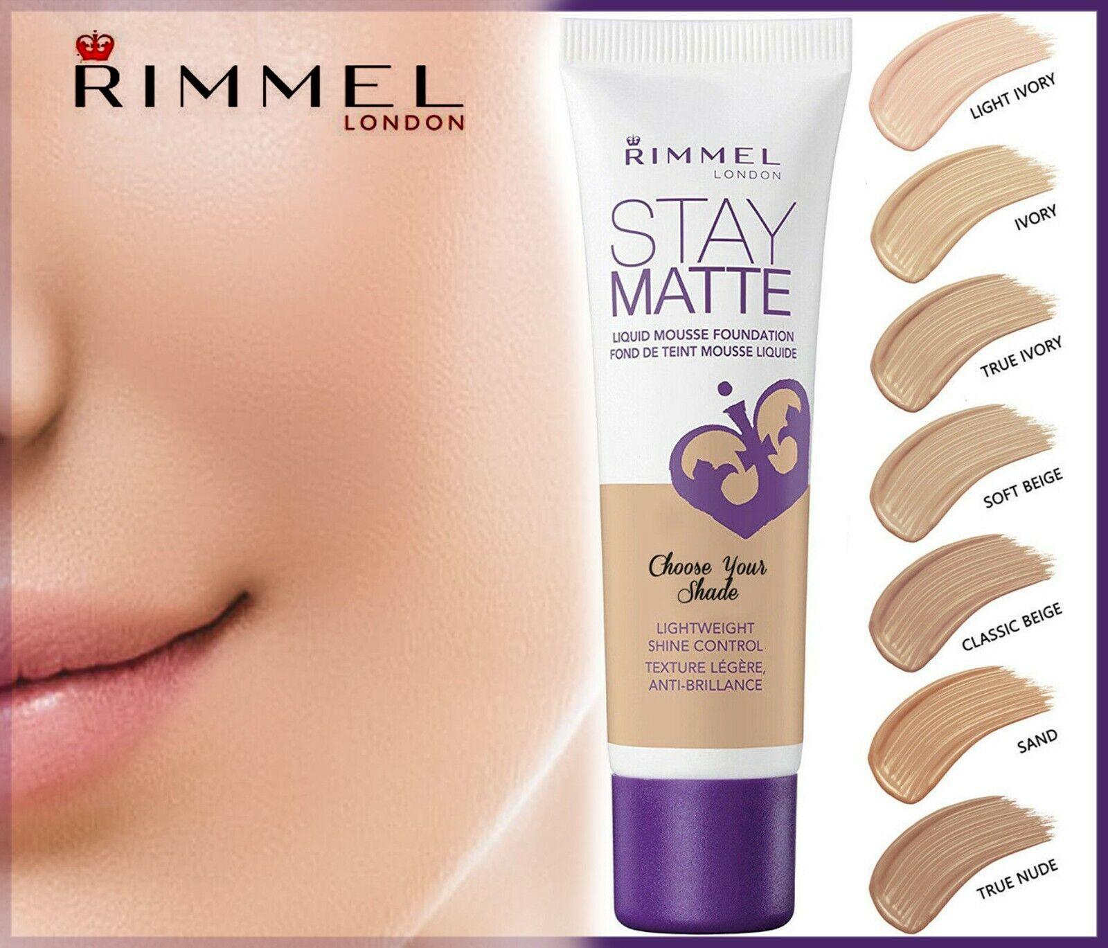 Rimmel London Stay Matte Liquid Mousse Foundation 30ml Choose Your Shade Ebay
