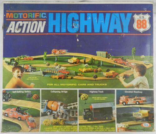 Motorific Action Highway 88, Vintage 1967 Ideal w/Box & Instructions