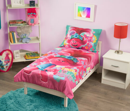 Trolls World Tour Lotta Love Toddler Bedding Set 4-Piece 100% Polyester