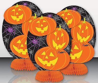 3 x CHEAP Halloween Pumpkin honeycomb centrepieces party decorations FREE P&P