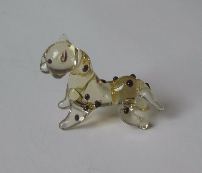 zzL CHEETAH MINIATURE GLASS FIGURINE little art mini animal jungle diorama