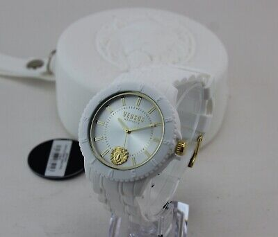 NEW AUTHENTIC VERSUS VERSACE TOKYO R WHITE SILICONE MEN'S VSPOY0218 WATCH