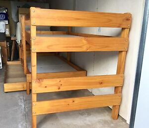 """Bunkers "" Solid Pine double Bunk Bed with trundle . Springdale Heights Albury Area Preview"