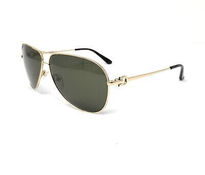 Salvatore Ferragamo Sunglasses SF109S 718 Shiny Gold Aviator Men's 60x10x135