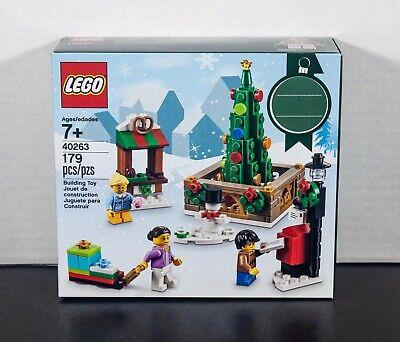 LEGO Seasonal CHRISTMAS TOWN SQUARE 40263 Snowman Tree Holiday SEALED New