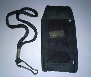 Nokia-8210-8310-Black-Leather-phone-pouch-with-belt-clip-NEW