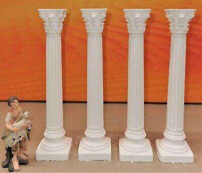 Krippenzubehör, Krippenbau, Ruinenbau, 4x orientalische griechische Säule 15cm - Griechische Zubehör