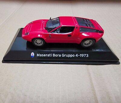 Diecast 1:43 Scale Red Maserati Bora Gruppo 4 -1973 Car Model Classic Vehicle