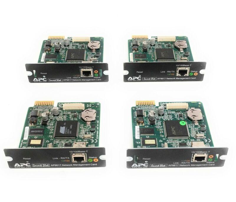 Lot of 4 APC AP9617 10/100 SmartSlot Network Management Card