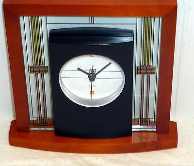 BULOVA MANTEL TABLE CLOCK -FRANK LLOYD WRIGHT THE WILLITS B7756