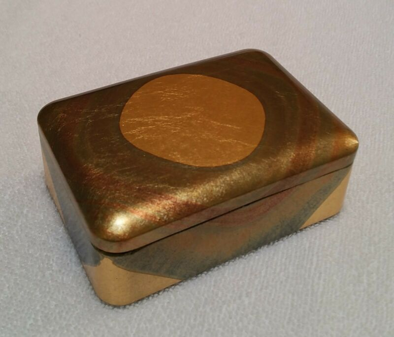 [NEW] Japanese Makie Gold Lacquerware Business Card/Jewelry Box