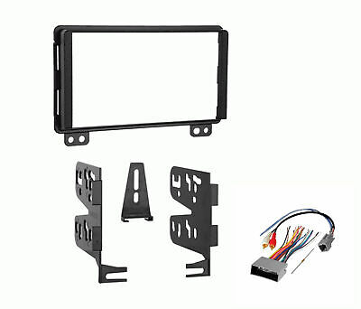Double DIN Radio Stereo Dash Kit Wire Harness Fits 2001-06 Ford Lincoln (Best Double Din Radio)