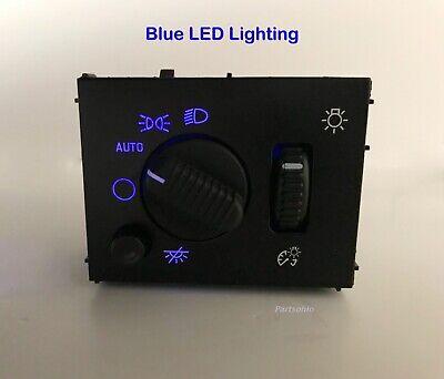 Blue LED Headlight Switch 03-06 Chevy Silverado Suburban Tahoe Sierra NEW