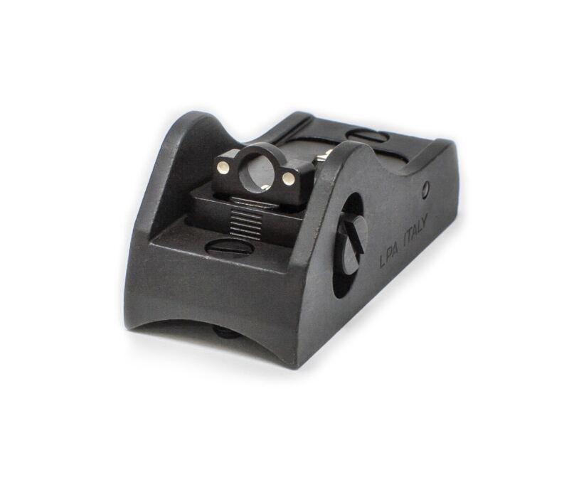 Shotgun Rear Adjustable Ghost Ring Sight - White Dot