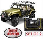 NEW BODY ARMOR TRAIL DOOR SET FOR JEEP WRANGLER