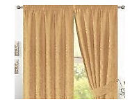 "Jacquard Lined 3"" Tape Curtains (Lana Gold) - 117X183CM / 46""X72"""