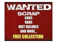 Scrap vans and cars wanted