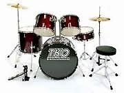 WineRed Drumset w Hardware, Cymbals & Throne BRAND NEW