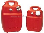 Plastic Portable Boat Fuel Petrol Tank 22-24 Litres with Level Gauge PPFT24G