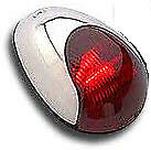 Attwood 3838R7 Stainless Vertical Sidelight Red 3752