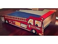 Child's Fire Engine bed (Takes a single mattress)
