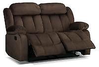 Alabama reclining loveseat - deep brown