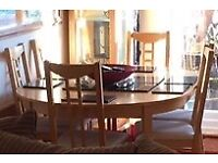 Ikea beech extending table - seats 4-8