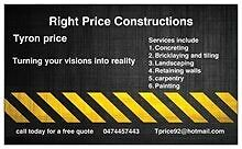 Right price constructions Cardiff Lake Macquarie Area Preview