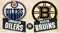 Oilers vs Bruins @ Rexall Wed Dec 2 Sec 333 Row 45 Seats 6-8