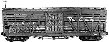 Rail Line 132 HO Scale HOn3 D&RGW 30