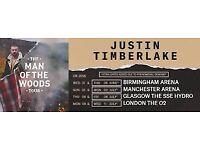 Justin Timberlake O2 face value