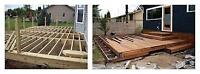 decking , wooden and trex deck installation