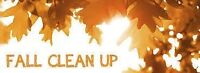 Perennial garden clean up and Fall yard leaf clean up
