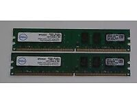 Genuine Dell Certified Laptop Memory - 4GB (2 x 2GB) - Going Cheap!