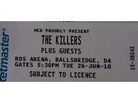 The killers tickets x2 RDS Dublin