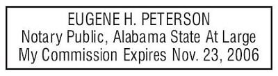 State Of Alabama Custom Rectangle Self-inking Notary Seal Rubber Stamp