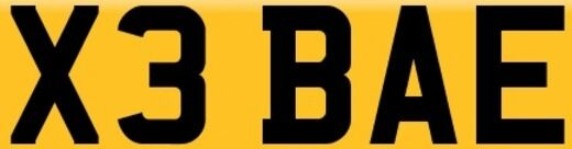 X3 BAE CHERISHED NUMBER PLATE. Includes Transfer Fees! On retention. Quick transfer.