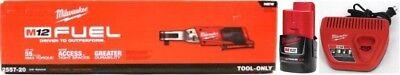 Milwaukee 2557 20 M12 Fuel 12V Li Ion 3 8  Ratchet    1  2 0Ah Battery   Charger