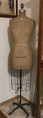 Antique Victorian Palmenburg Cavanaugh Dress Form Mannequin 8height Adjustable