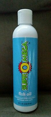 New 8oz Bottle of Dinovite SuprOmega Fish Oil - A Dog/Cat Supplement w/Vitamin E