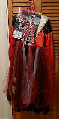 Girls Queen of Hearts Cutie Goodmark Halloween Costume Size M 8/10