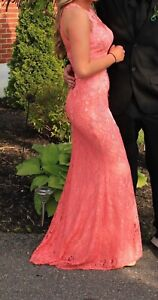 GORGEOUS CORAL PROM DRESS