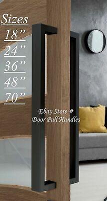 Entry Door Pull Handle Black Entrance Modern Square Long stainless steel Pulls  Black Entry Door