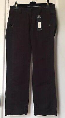 G-Star Raw Denim Women's  Pants Cotton Twill Black Track Size 30-32  NWT