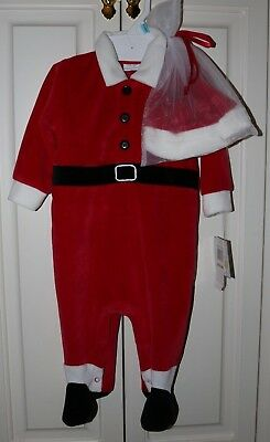 Infant Christmas Santa Suit with Hat - Size 6-9 months - New with - Infant Santa Suit
