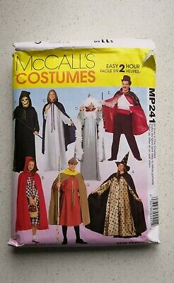 McCall's Pattern M7225 / MP241 Adult Costumes Cosplay Fast Easy Capes Cloak S-XL (Easy Fast Costumes)