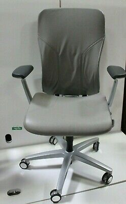 Allsteel Acuity Ergonomic Work Chair Leather Leather Jacket Fixed Arms