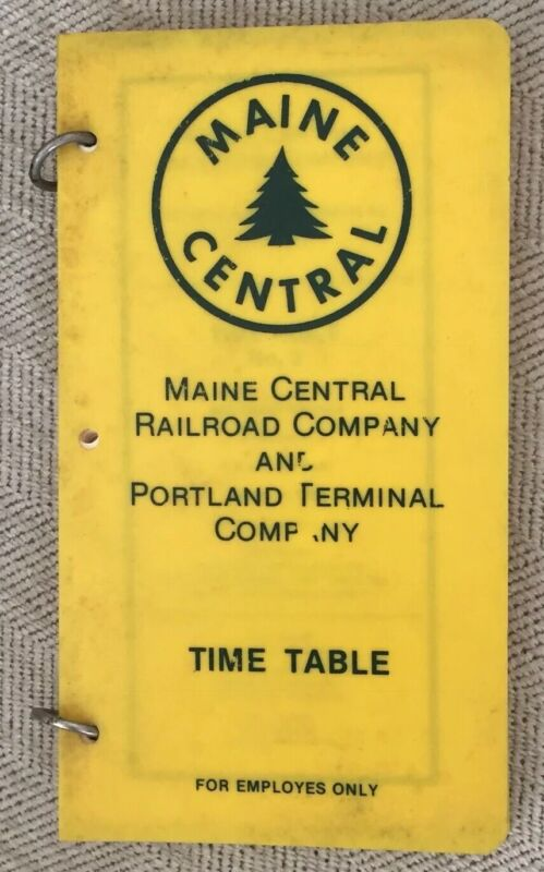Maine Central Railroad 4/11/82 Employee Timetable-System, plastic binder